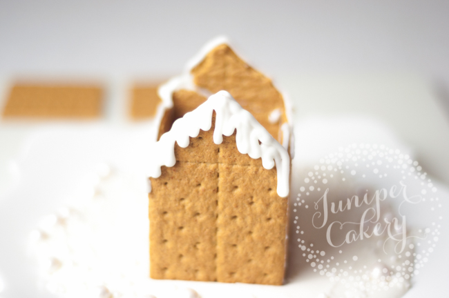 Make a cute graham cracker gingerbread house for Christmas