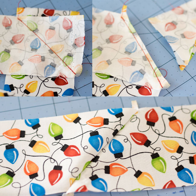 join strips of fabric for binding