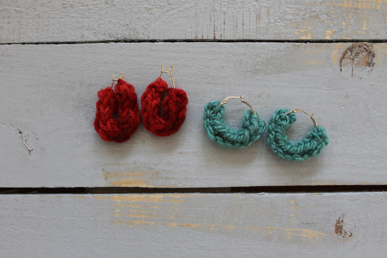 Knit I-Cord Earrings
