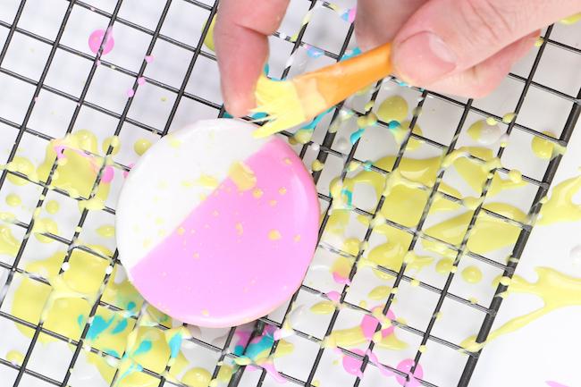 Paintbrush Spattered Royal Icing   Erin Gardner
