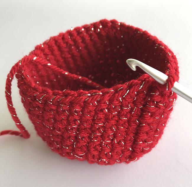 making a crochet ornament