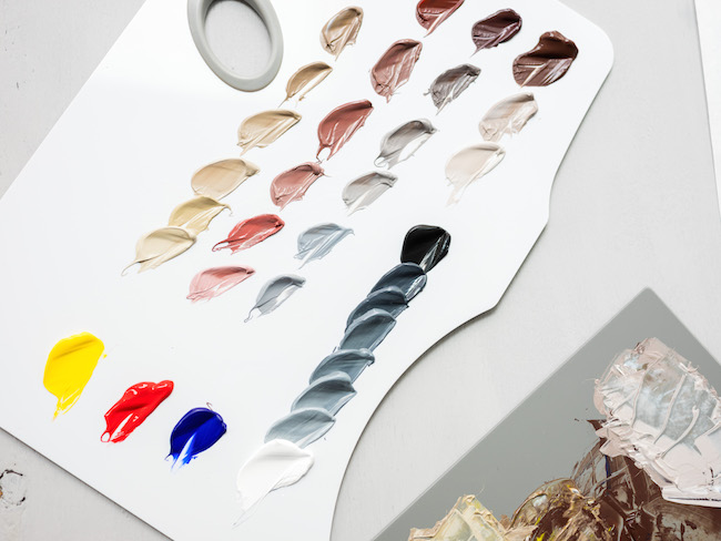Acrylic Skin Tones Mixed with Primary Colors