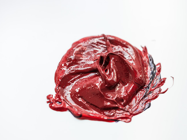 Red Purple Acrylic Paint Mix