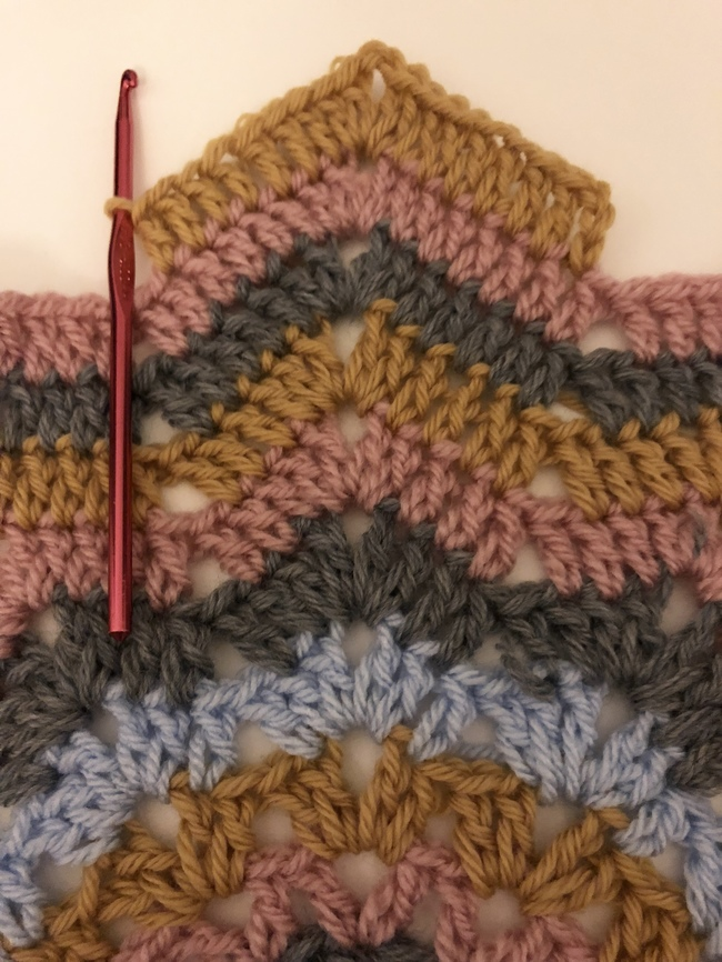 11 rounds of crochet ripple