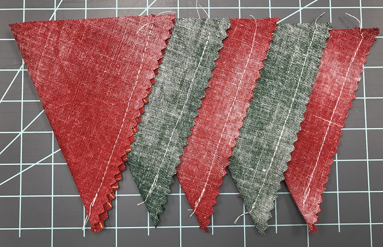 Making Bunting Flags from fabric