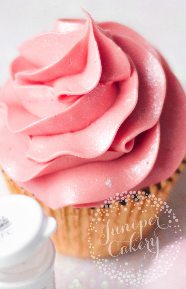 Should you use luster dust to make sparkly buttercream