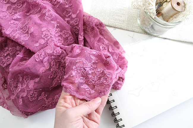 Delicate all over stretch lace