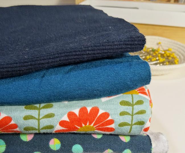 Blue Knit Fabrics