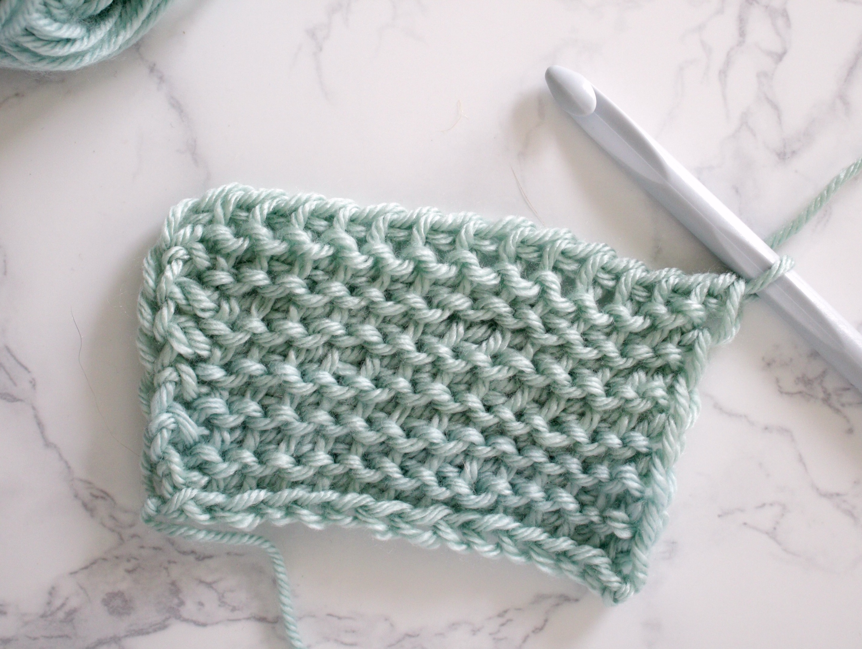 Tunisian Crochet Purl Stitch Swatch