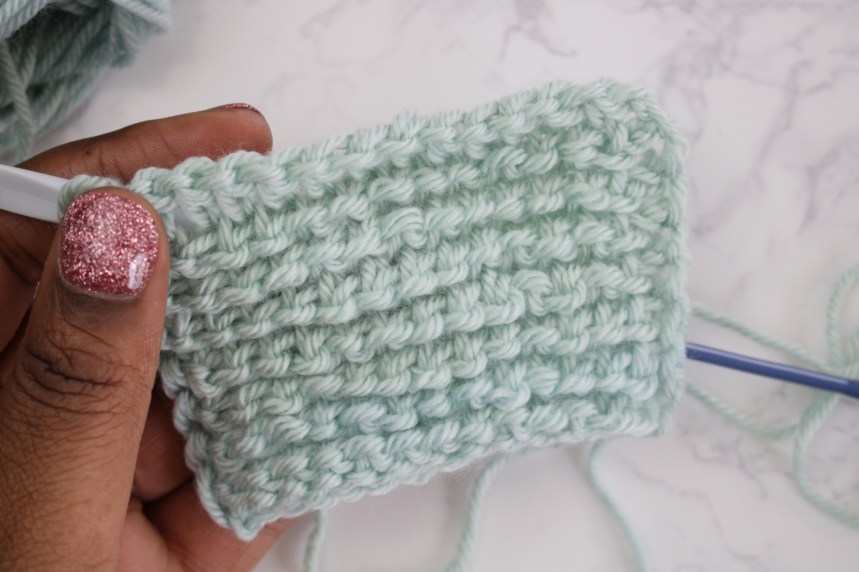 back side of tunisian crochet purl stitch