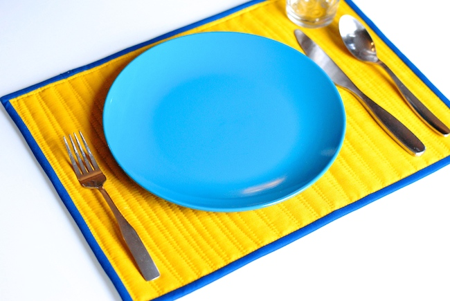 How to Sew a Quilted Reversible Placemat