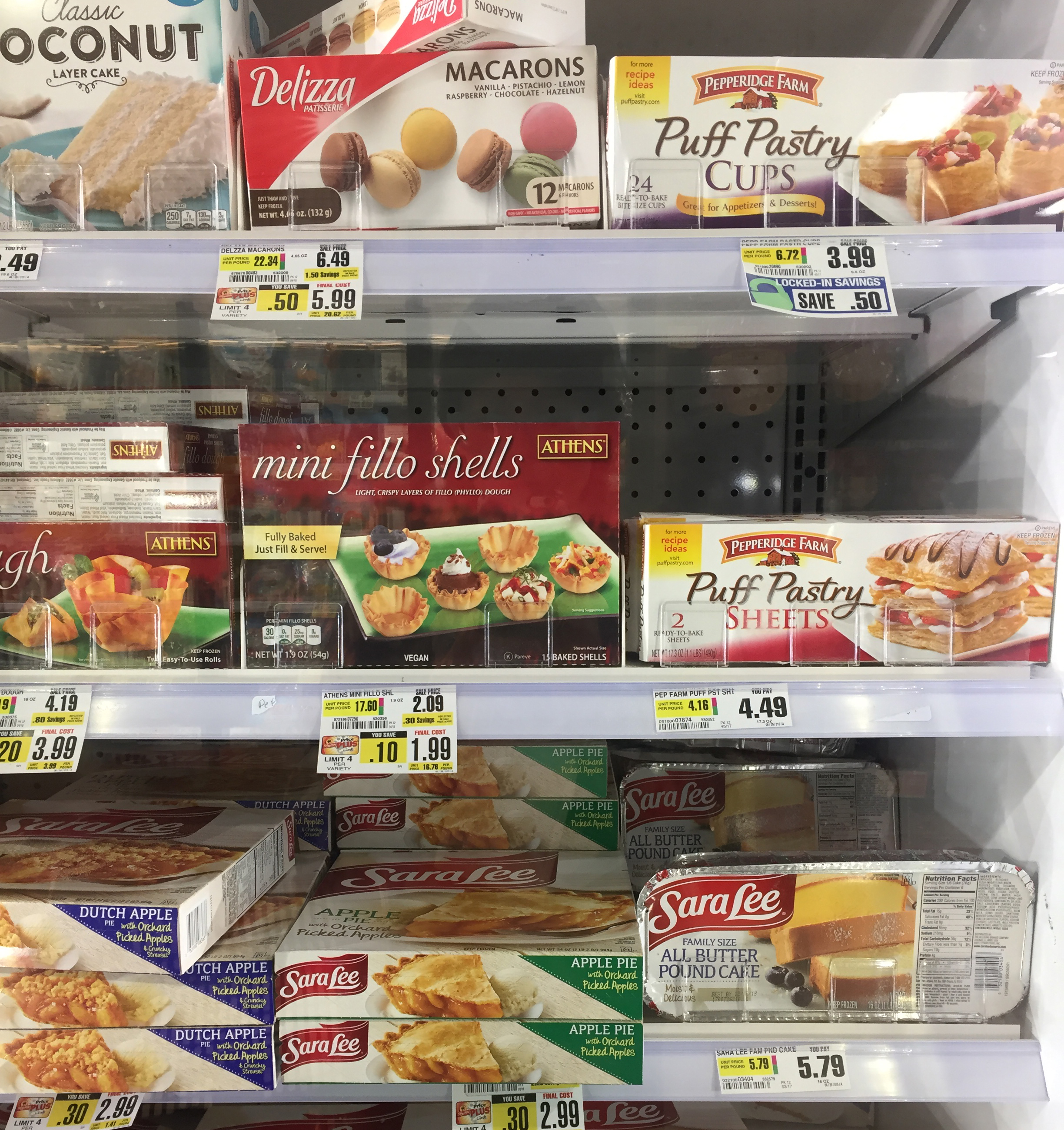Puff pastry sheets at grocery