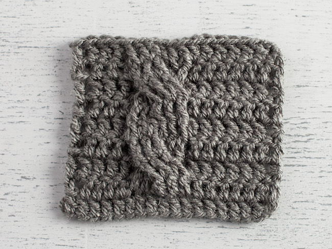 Crochet Cable Swatch