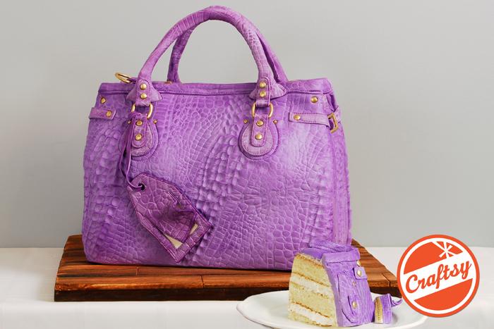 Designer Handbag Cake by Elisa Strauss