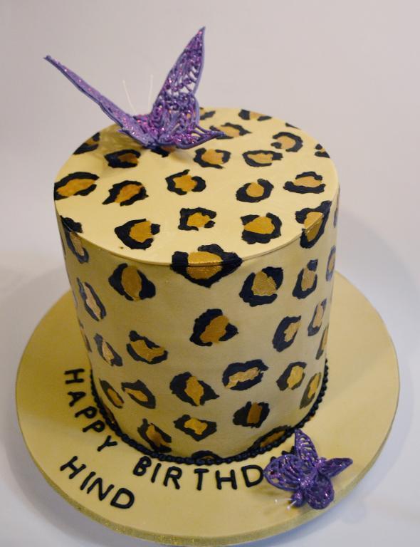 Sweet Sixteen Leopard Cake