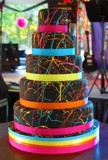 Sweet Sixteen Spatter Cake
