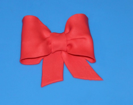 Finished Fondant Bow - How to Make Fondant Bows on www.craftsy.com