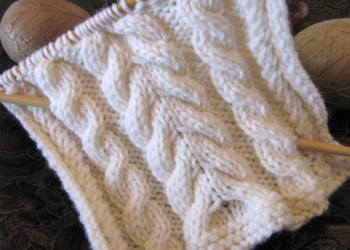 knit cabled pattern