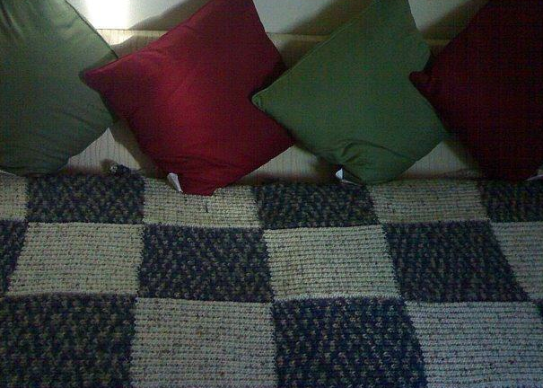 free knit sofa throw pattern