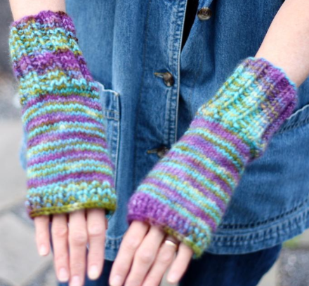 free knit pattern for hand warmers