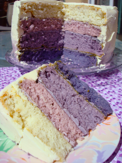 How to Make a Purple Ombre Cake