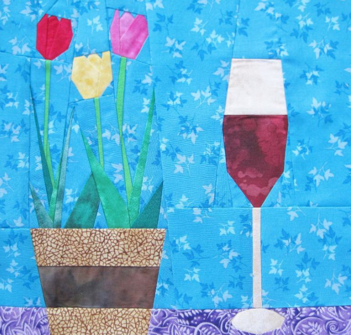 Free Paper Pieced Tulip Pattern