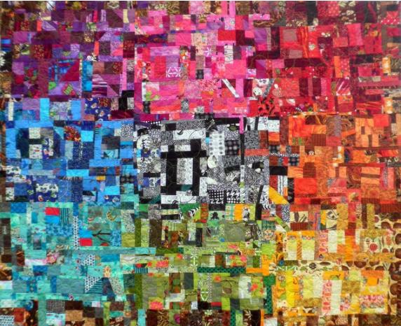 color wheel scrap quilt