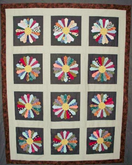 checkered scrap quilt