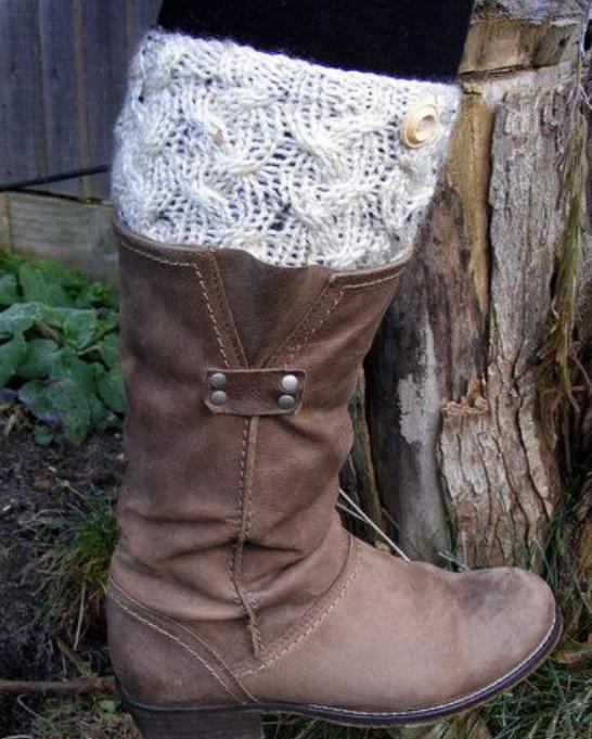 Free Boot Cuff Knitting Pattern