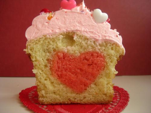 Heart in Cake