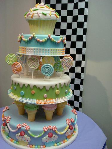 fun cake candy land