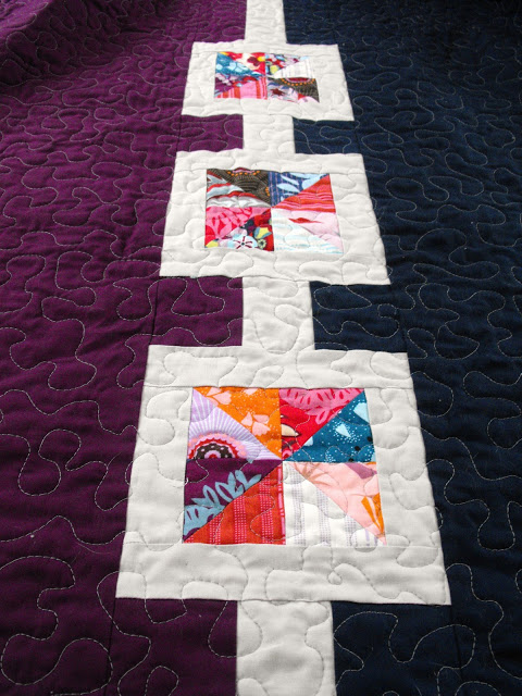 Quilt Featuring Stipple Design, Square Pattern