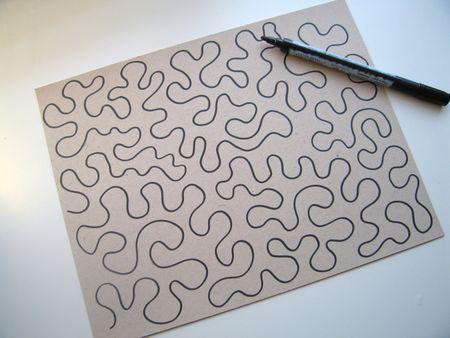 Stipple Design on Paper