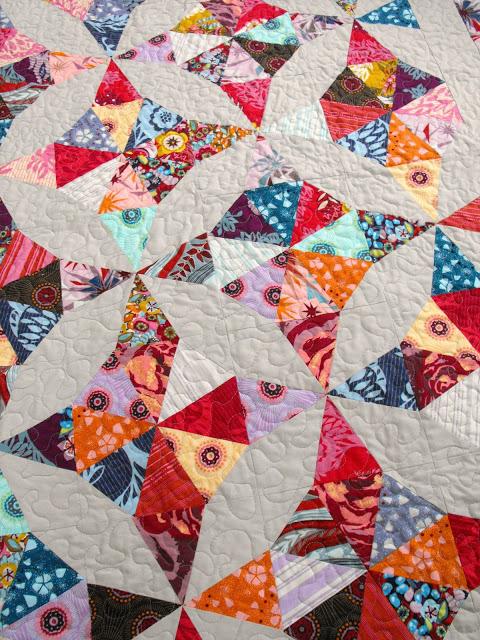 Multi-colored, Vibrant Stipple Quilt