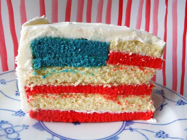 American Flag Cake