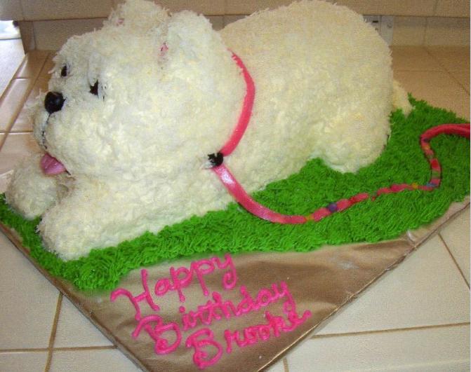 Fluffy Dog Cake