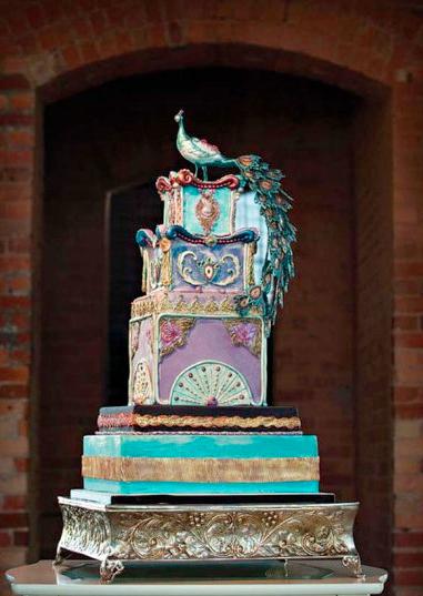 fancy peacock cake