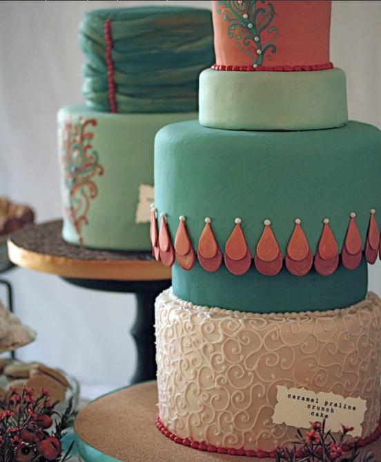 sweet peacock cake