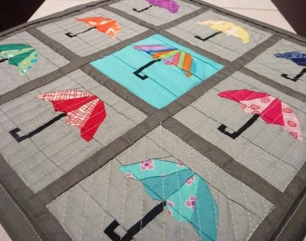 umbrella mini quilt