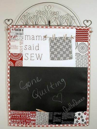 message board mini quilt