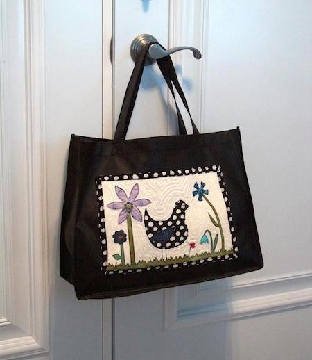 mini quilt purse on Bluprint