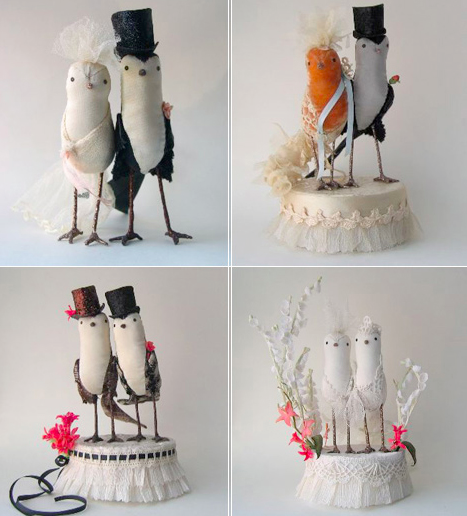 Different Versions of Owl Cake Toppers