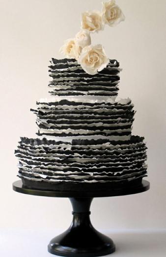 maggie austin dark ruffle cake
