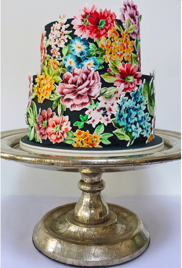 Floral Hand-Painted Cake, Craftsy