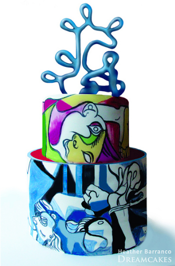 hand-painted cake: Picasso, on Craftsy