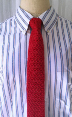 Red Knit Necktie