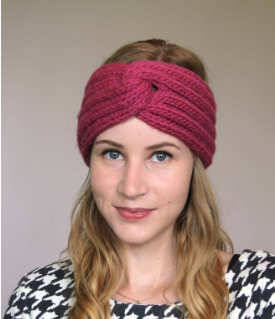 Girl Modeling Pink Francine Headband