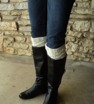 diamond knit boot cuffs on Bluprint