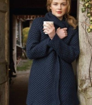 daisy stitch coat