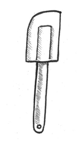 rubber spatulas